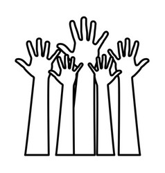 figure hands up icon vector image vector image