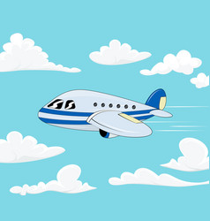 flight of the plane in the sky vector image vector image