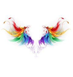 Fluffy Rainbow Wings vector image