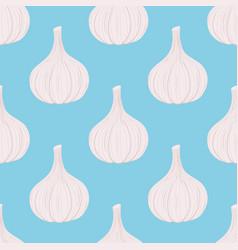 garlic seamless pattern cartoon flat style vector image vector image