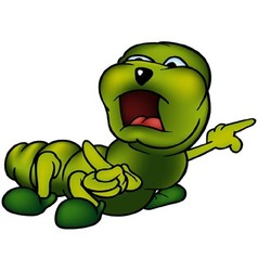 Green caterpillar vector
