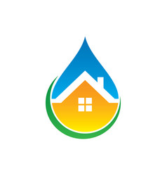 Home waterdrop style logo vector