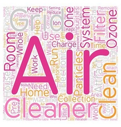 How Electronic Air Cleaners Work text background vector image vector image