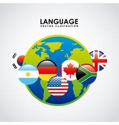 language poster design vector image