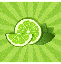lime and mint background vector image