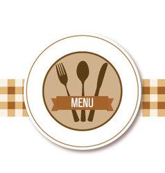 Menu restaurant design vector