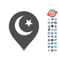 muslim symbol marker icon with free bonus vector image
