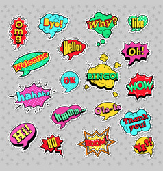 pop art comic speech bubbles set vector image vector image