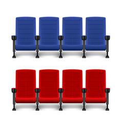 realistic comfortable movie chairs cinema empty vector image vector image
