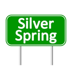 Silver spring green road sign vector
