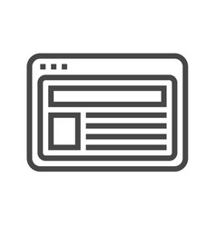 Site thin line icon vector
