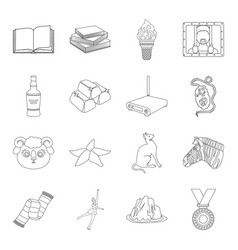 Sport library education and other web icon in vector