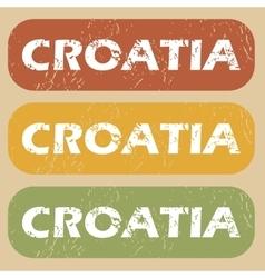Vintage croatia stamp set vector