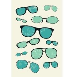 Vintage glasses grunge style poster vector