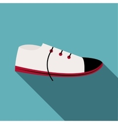 White boot icon flat style vector