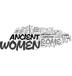 Women in ancient rome text word cloud concept vector