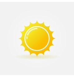 Yellow sun logo vector