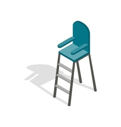 Tennis referee chair icon isometric 3d style vector