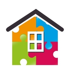 house puzzle piece icon vector image
