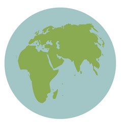 Globe world earth map global continent vector