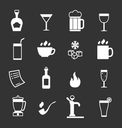 Set icons of bar drinks and beverages vector