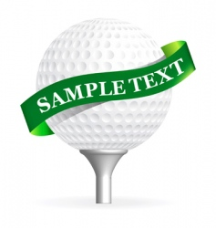 Golf ball isolated on white vector