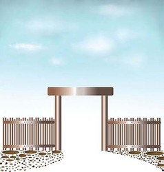 Fences doors sky background vector