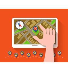 Mobile gps navigation vector