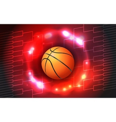 Basketball tournament bracket and ball vector