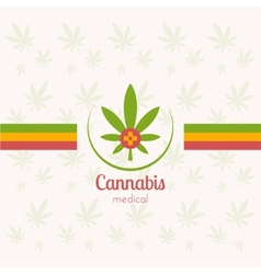 Cannabis medical vector