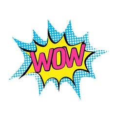 Comics icon banner - pop art style vector