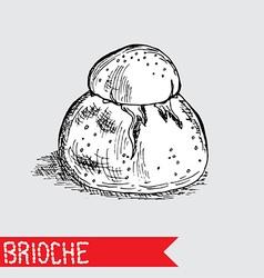 hand drawn brioche vector image