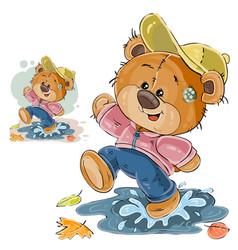 A brown teddy bear fun vector