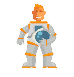astronaut in space suit with helmet mask isolated vector image