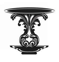 Baroque royal table vector