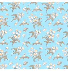 Blue seamless pattern with floral ornament vector image vector image