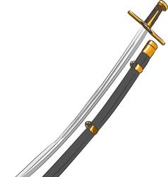 Cavalry saber vector