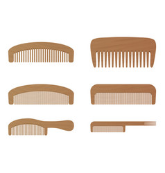 comb barber comb wooden comb isolated on a vector image vector image