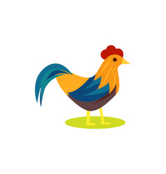 Cute rooster isolated icon vector