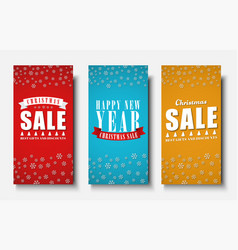 Design of vertical banners for christmas sales vector