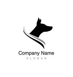 doberman logo vector image vector image