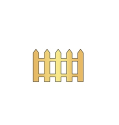 Fence computer symbol vector image