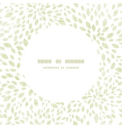 Green leaves explosion textile texture circle vector