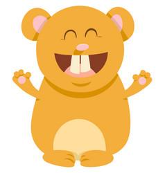 hamster cartoon animal character vector image vector image