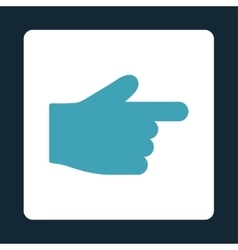 Index finger flat blue and white colors rounded vector