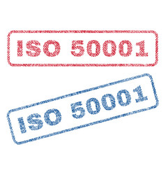 Iso 50001 textile stamps vector