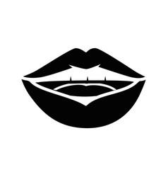 Lips pop art cartoon vector