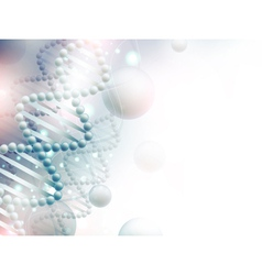 science background with dna vector image
