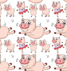 Seamless pig vector