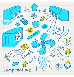 sketch air conditioners fun vector image vector image
